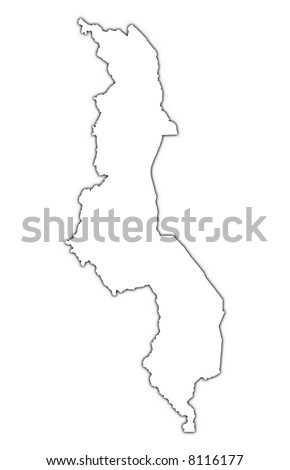 Malawi Map Stock Images RoyaltyFree Images Vectors Shutterstock - Malawi blank map
