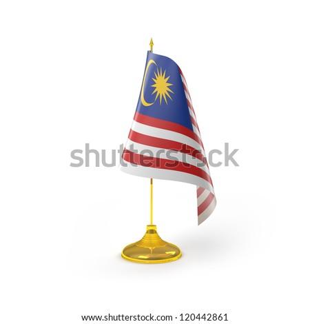 Malaysia Flag Detail Render - stock photo
