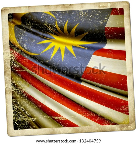 Malaysia Grunge sticker - stock photo