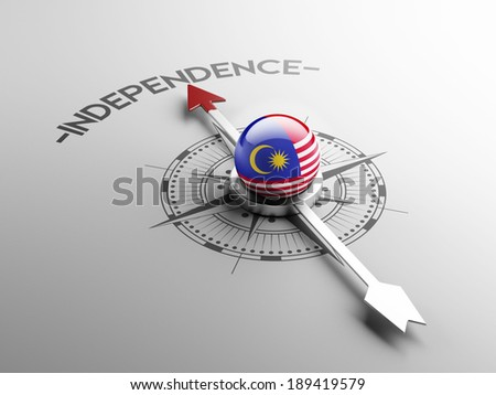 Malaysia High Resolution Independence Concept