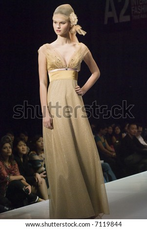 Malaysia International Fashion Week 2007 - Runway Brides 2008 (Fashion Designer: Eric Choong) - stock photo