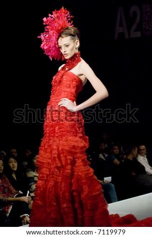 Malaysia International Fashion Week 2007 - Runway Brides 2008 (Fashion Designer: Frederick Lee) - stock photo