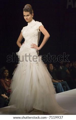 Malaysia International Fashion Week 2007 - Runway Brides 2008 (Fashion Designer: Keith Kee) - stock photo