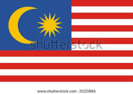 Malaysia national flag - stock photo