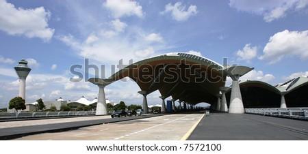 Malaysia's Kuala Lumpur International Airport in Sepang, 2005. - stock photo