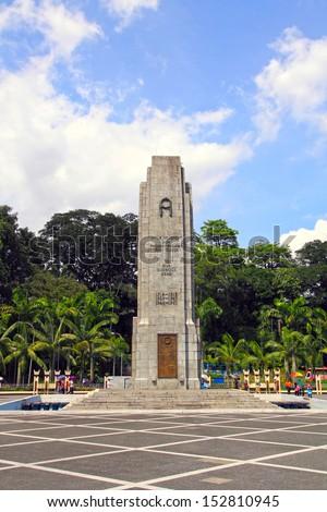 Malaysia's National Monument , Kuala Lumpur, Malaysia - stock photo