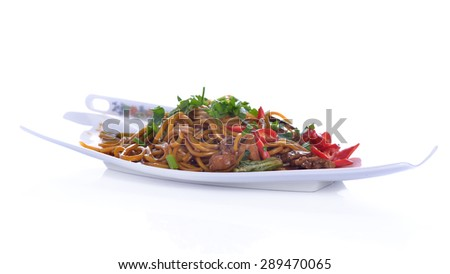 Malaysia Spicy Noodle Mee - stock photo