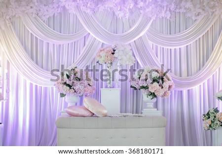 Malaysia Wedding Stage.soft focus  - stock photo