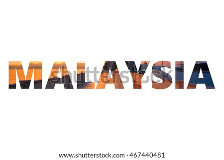 countries with 7 letters in name stock photos royalty free images amp vectors 26961 | stock photo malaysia word country name letters with landscape image in background 467440481