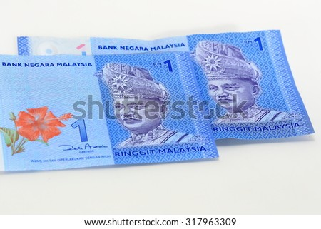 Malaysian banknotes - stock photo
