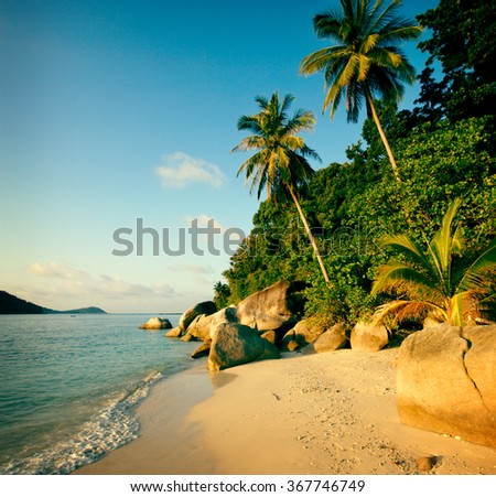 Malaysian Beach Seascape Summer Nature Travel Concept