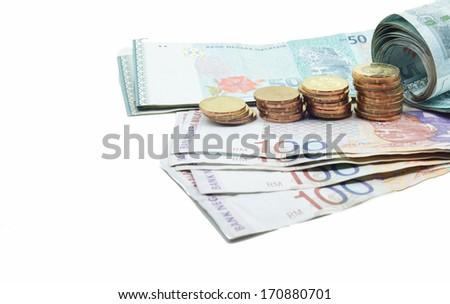 Malaysian currency - stock photo
