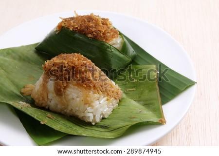 Malaysian Kuih pastry,  Pulut Inti - stock photo