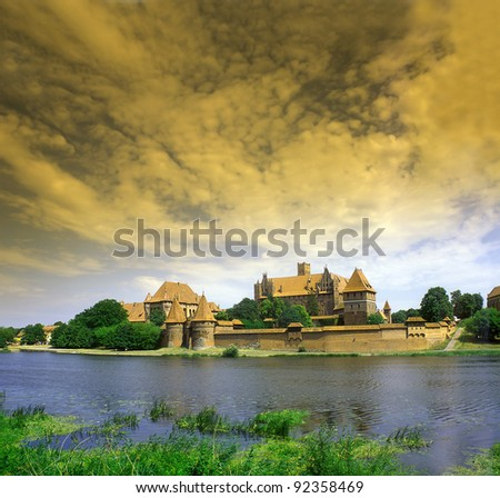 Malbork Castle, Poland, UNESCO World Heritage Site - stock photo