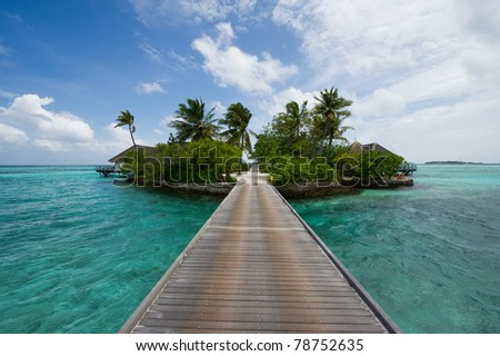 maldives island resort - stock photo