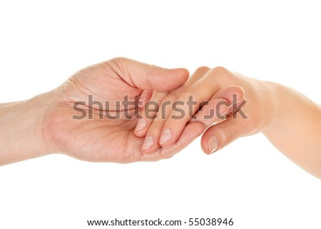 male and female hands (palms) in different gestures