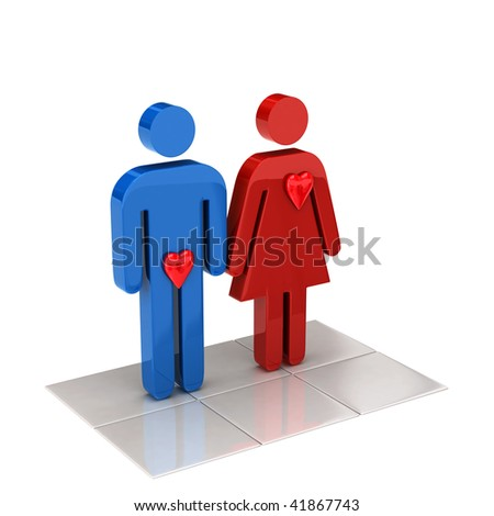 male and female love sign - stock photo