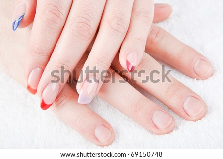 male and female manicure