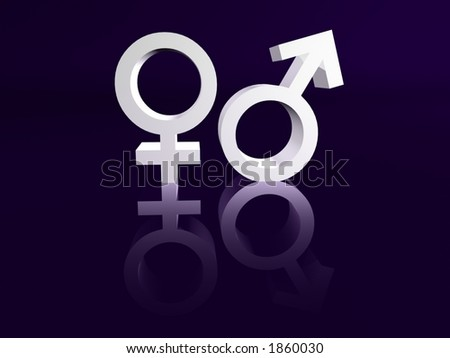 Male and Female Symbol - stock photo