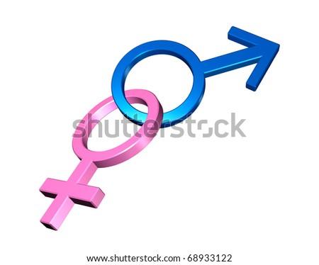 Male and Female Symbols - stock photo