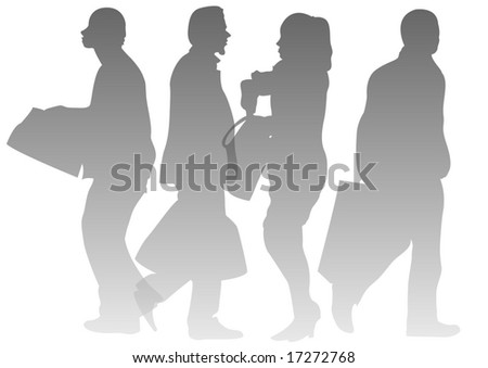 male and female transparent walkers - stock photo