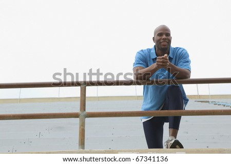 Male athlete resting - stock photo