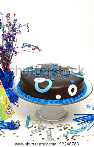 Male Birthday Theme - stock photo