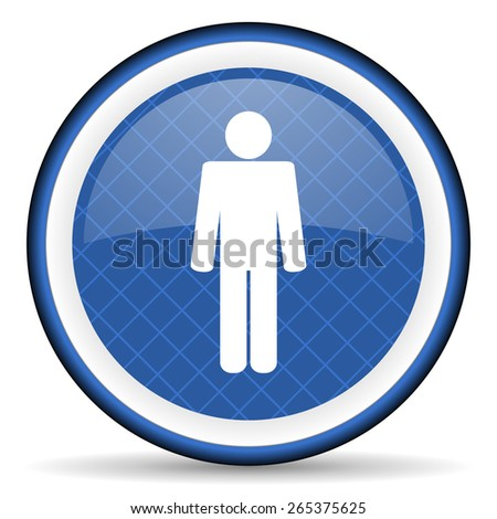 male blue icon male gender sign  - stock photo