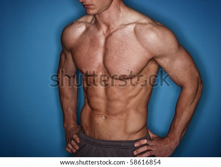 Male Bodybuilder - stock photo