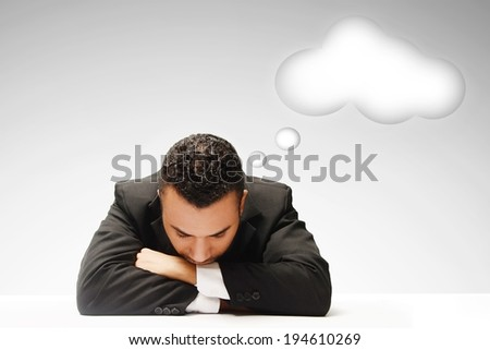 male business man day dreaming  - stock photo
