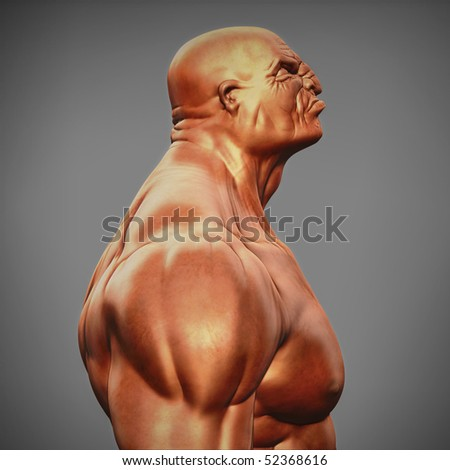male bust - stock photo