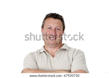 male, caucasian with facial expressions - stock photo