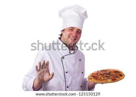 male chef holding