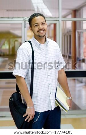 male college student - stock photo