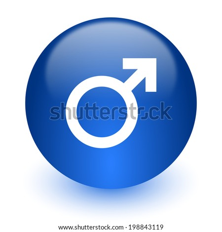 male computer icon on white background - stock photo