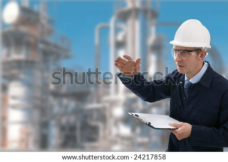 Male Construction/Project Engineer - stock photo