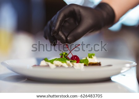 Restaurant Kitchen Gloves kitchen gloves stock images, royalty-free images & vectors