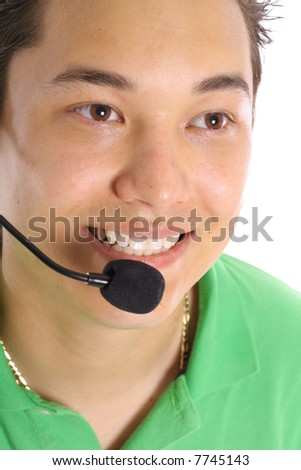male customer service - stock photo