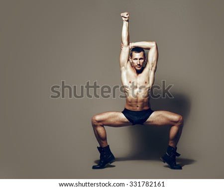 Male dancer, modern choreography