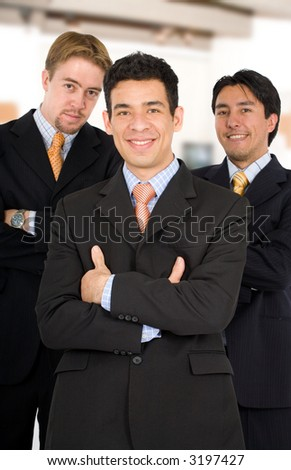 Male diverse business team at the office - stock photo