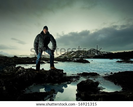 Male Explorer - stock photo