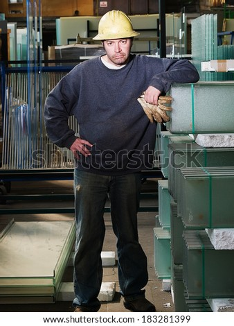 Male Factory Worker - stock photo