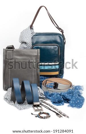 male fashion accessories - stock photo