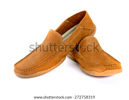 Male fashion shoes isolated  - stock photo