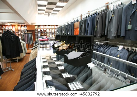 Male fashion store