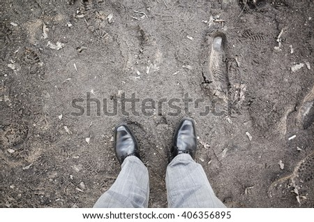 Dirty rural road puddles mud springtime stock photo for Dirty foot mud ranch