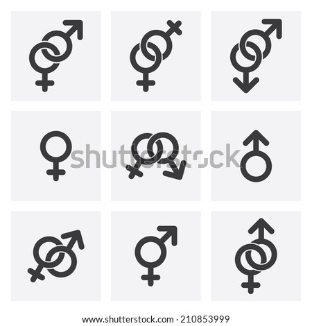 male female and gender symbols. - stock photo