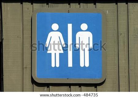 male female washroom sign - stock photo