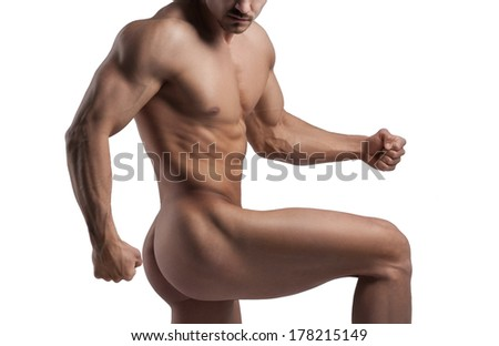 male figure shows - stock photo