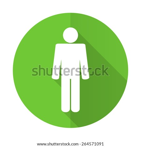 male green flat icon male gender sign - stock photo